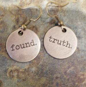 Found Truth Handmade Metal Art Earrings